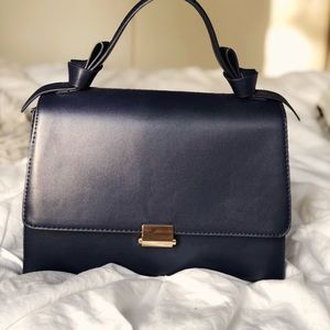 Who What Wear Collection Navy Top Handle bag